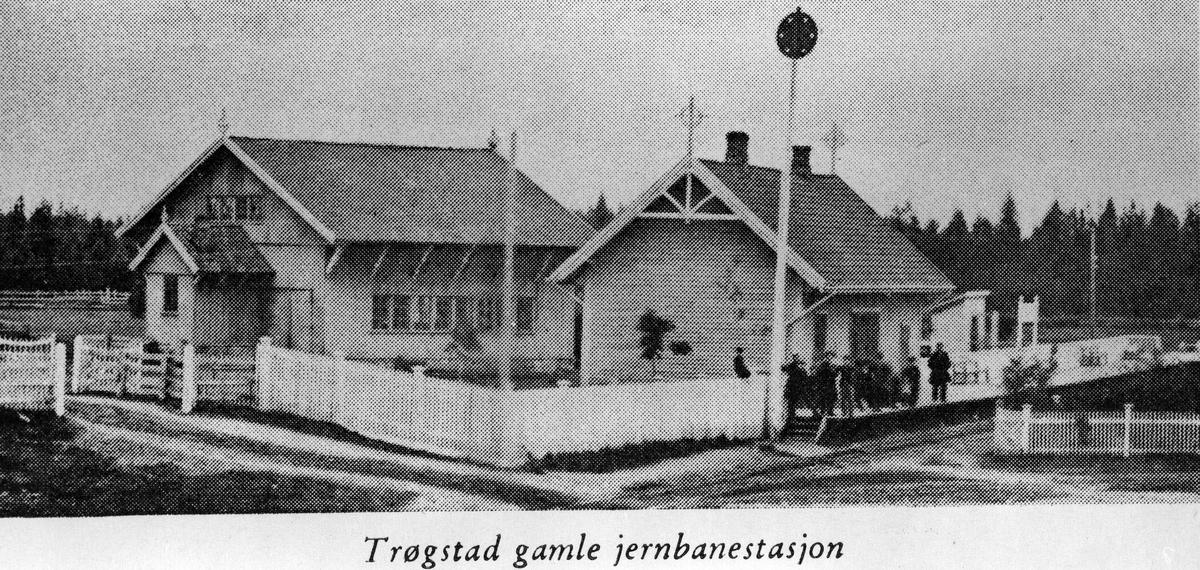 Trøgstad (nå Jessheim) gamle jernbanestasjon