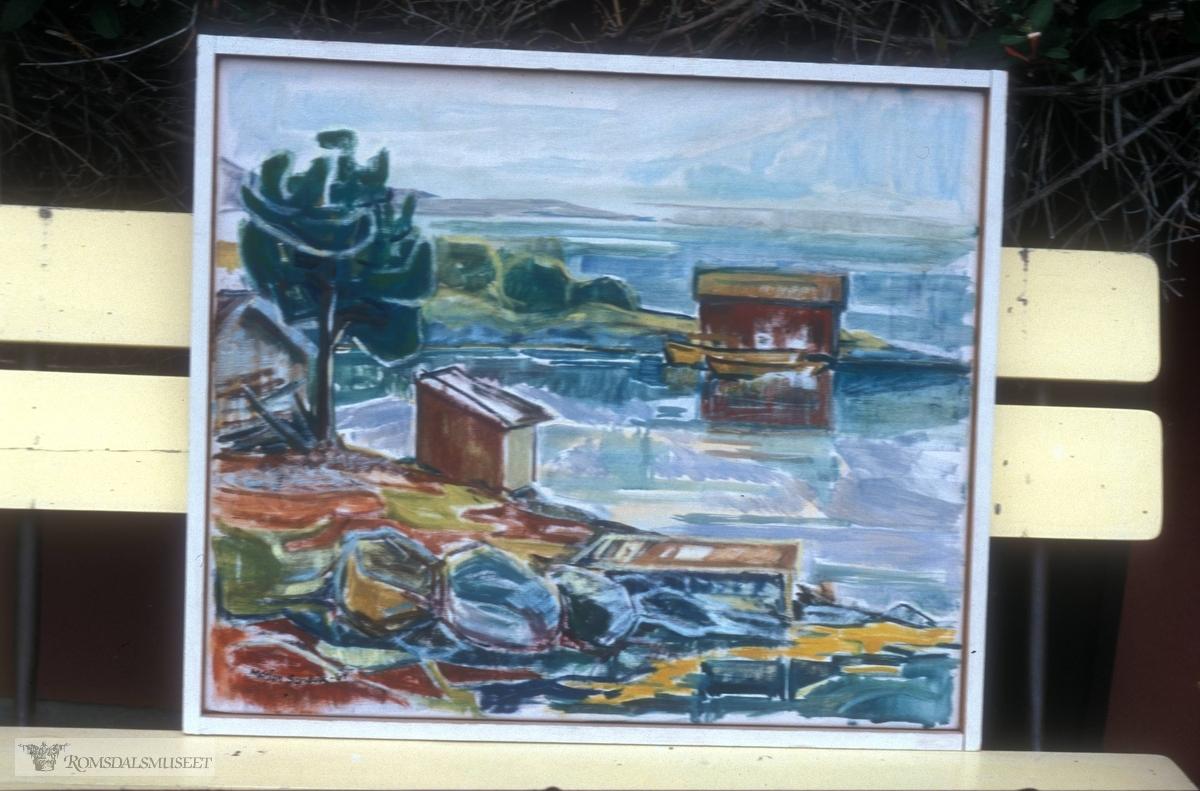 Malerier fra malerskolen på Fiskerimuseet som ekstisterte på 1960-tallet..(Se Romsdalsmuseets årbok 1998)