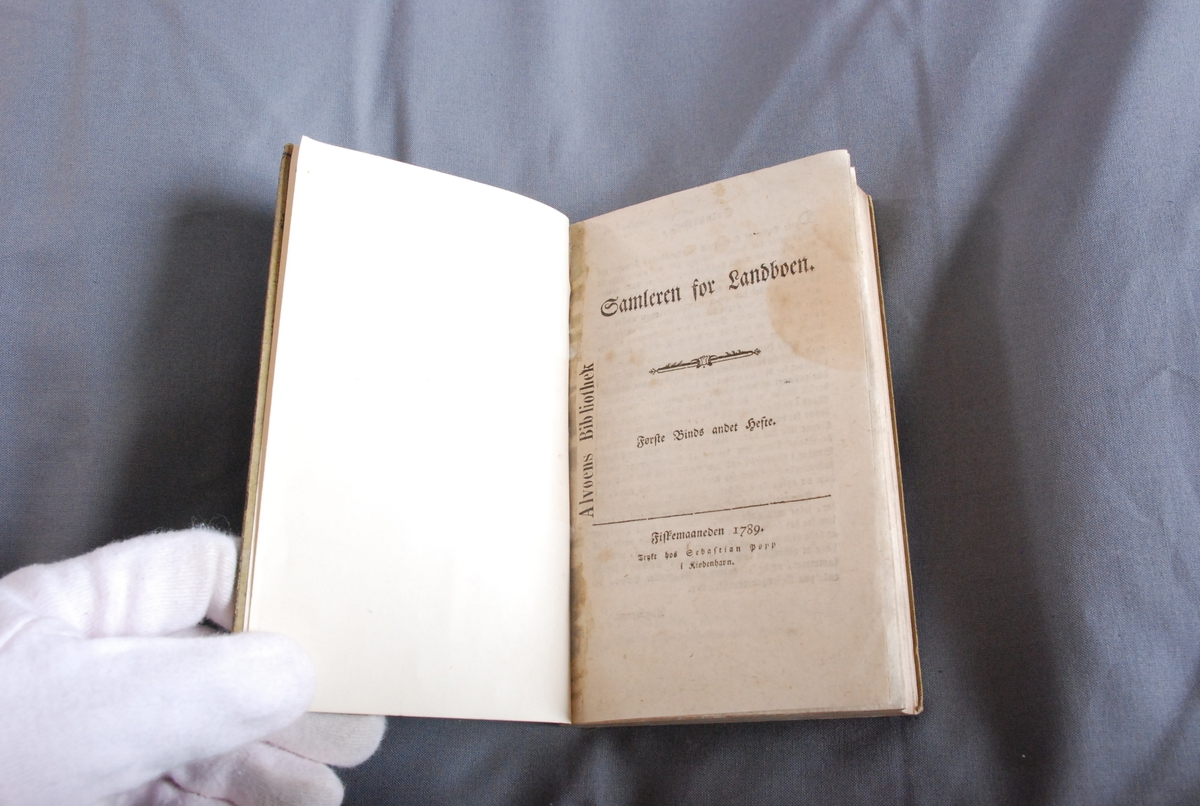 Samleren for Landboen København, 1789-1790. Utgiver: Thomas Aabye B.1/1789-B.2/1790