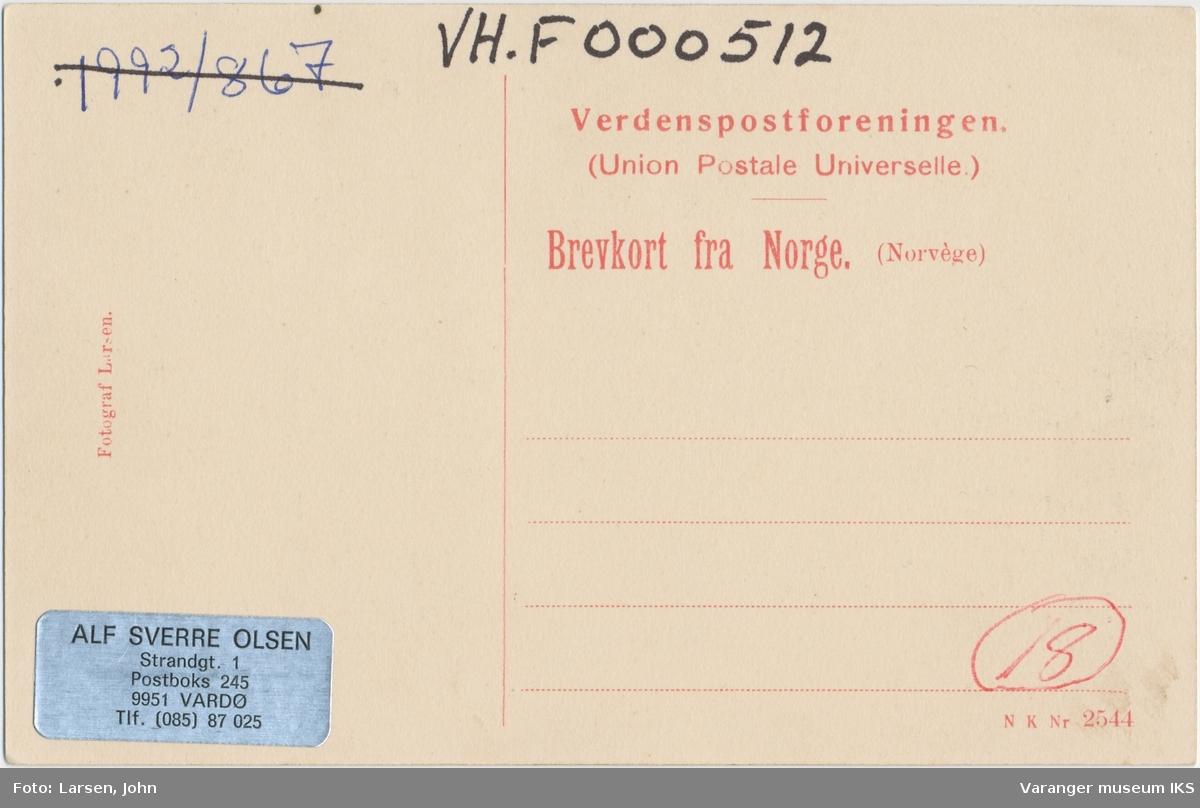 Postkort, Strandgata, ca. 1910