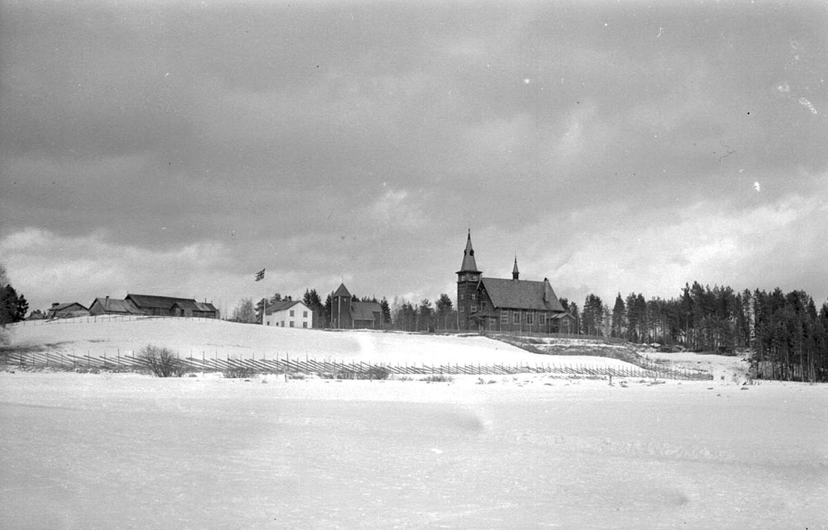 Osen kirke, vinter