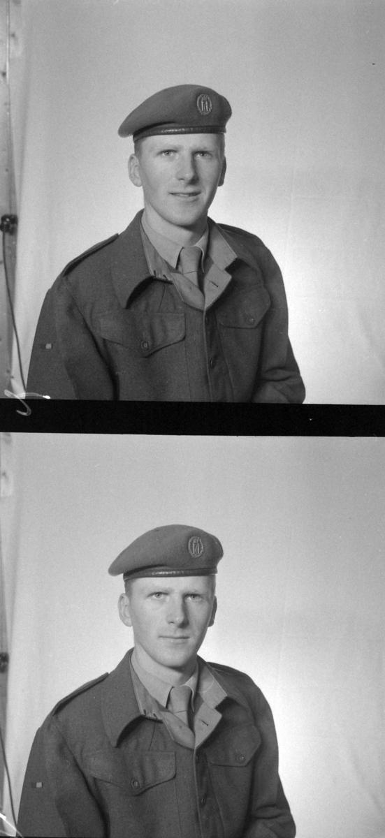 Portrett, militær, Knut Tønnessen, Lyngedal i Vest-Agder. Starum leir på Lena, Toten. Oppland fylke.