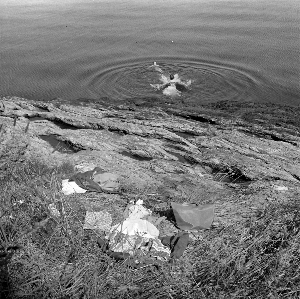 Soling og bading på Munkholmen