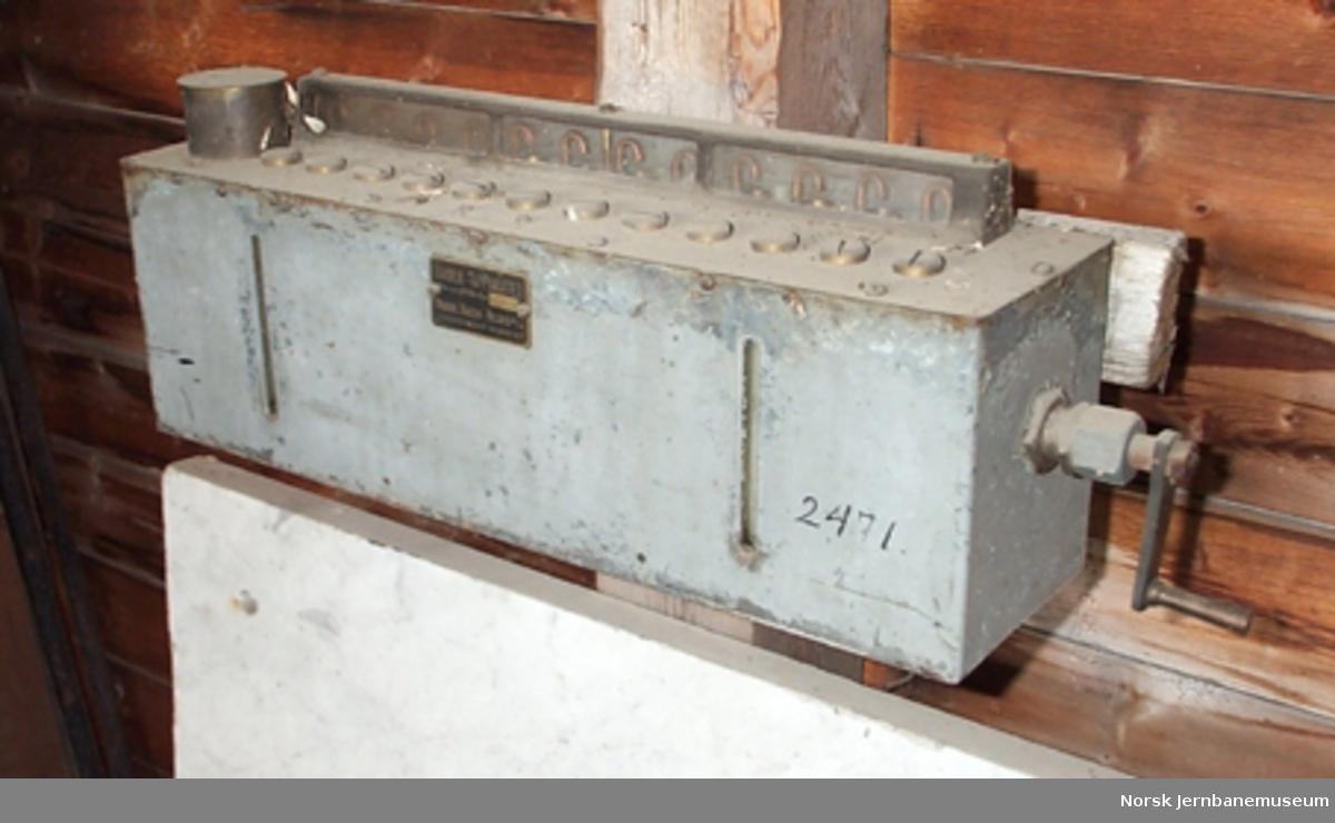 Oljeregister : Bauer-apparat