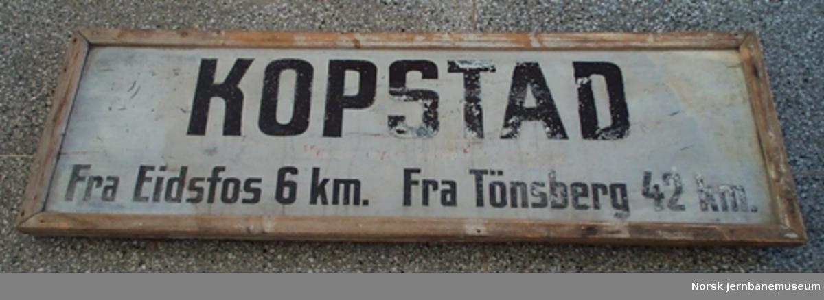 Stasjonsskilt fra Kopstad stasjon