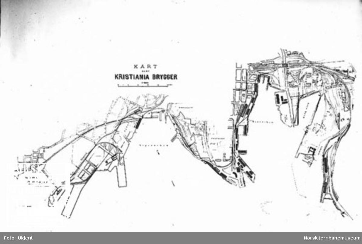 Kart over Kristiania brygger