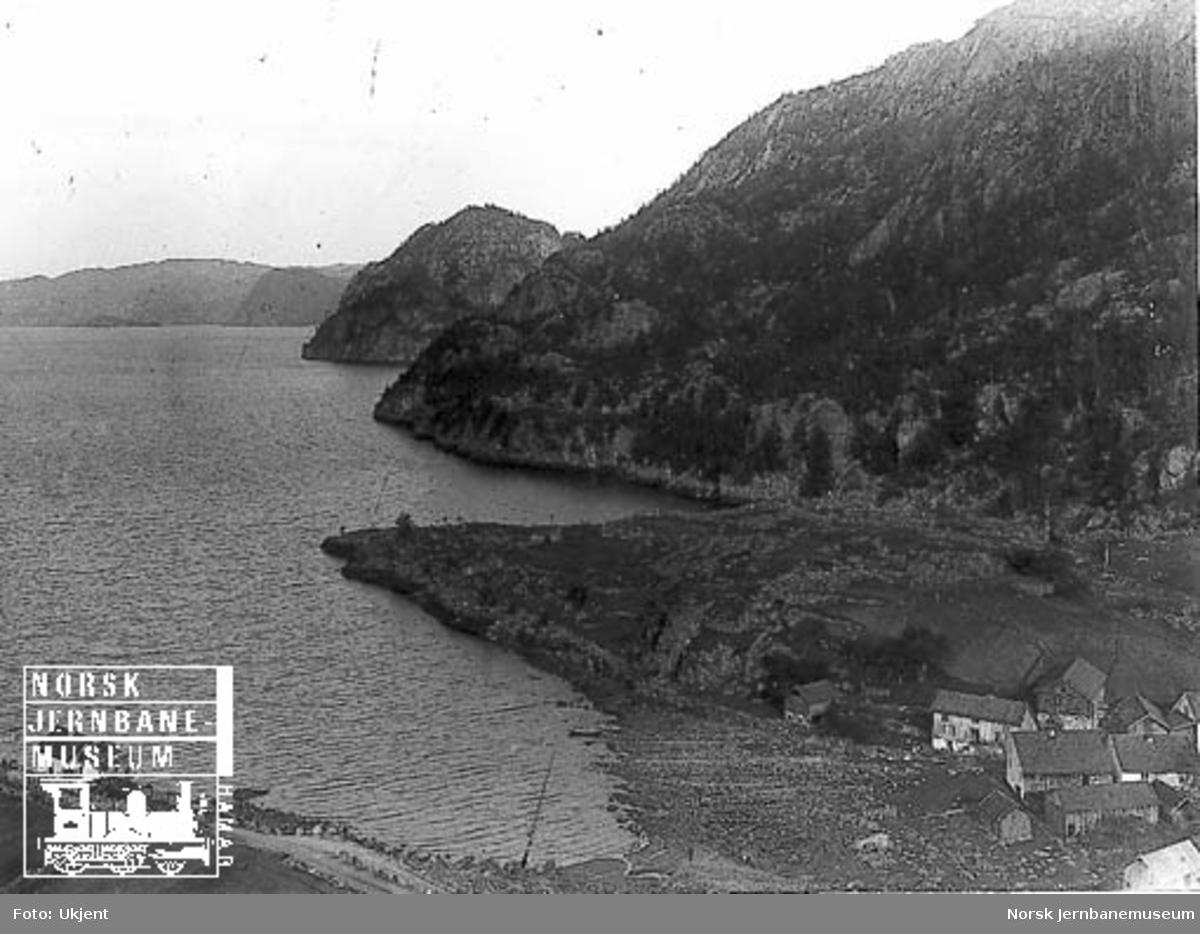 Fra Flekkefjordbanen før anlegget, stasjonsområdet på Flikkeid