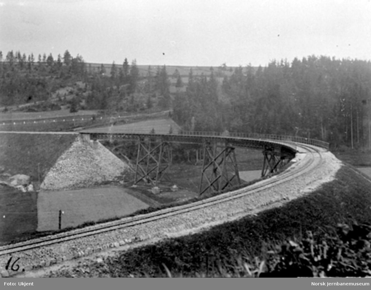 "Tyskland : ""Grosser Viadukt"" ved Stützengrün på banen Wilkau-Hasslau-Karlsfeldt i Sachsen, sett mot Carlsfeld"