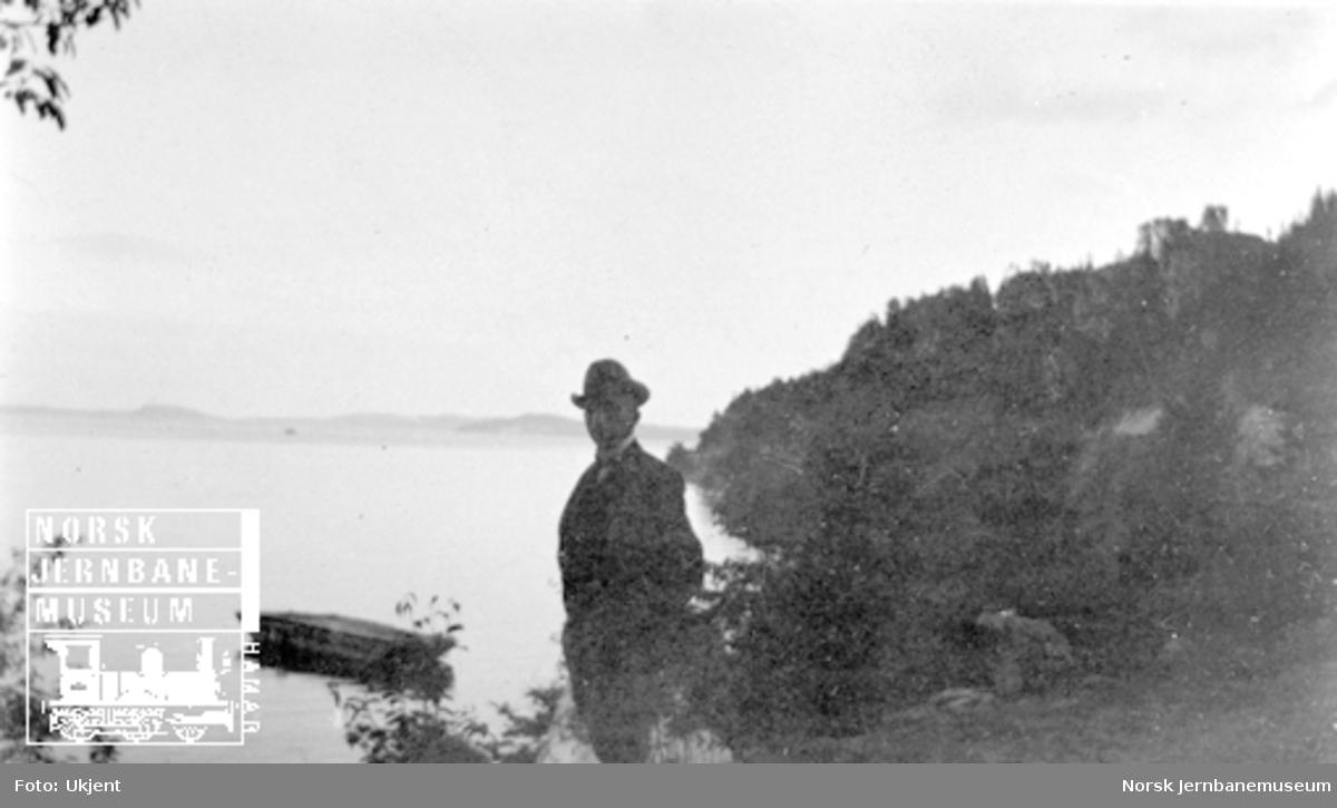 Smørstein-raset; bilde av avd.ing. Fogth ved fjorden