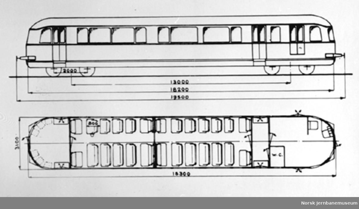 Tilhengervogn litra CFox4a, typetegning