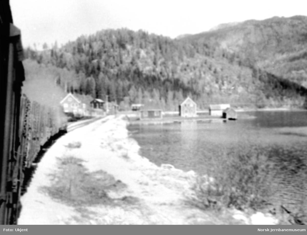 Kjerre stasjon sett fra ankommende godstog