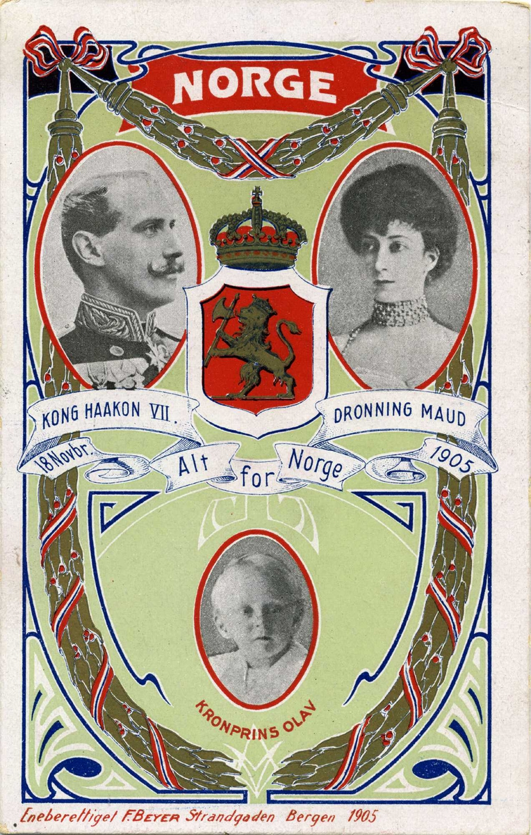 Konge - jubileum - postkort