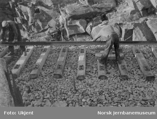 Skinnelegging mellom Krossen og Marnardal