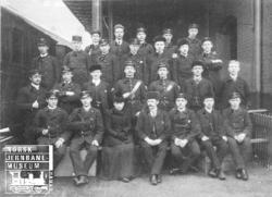 Gruppebilde av jernbanens telegrafkurs 6.1.-6.4.1892
