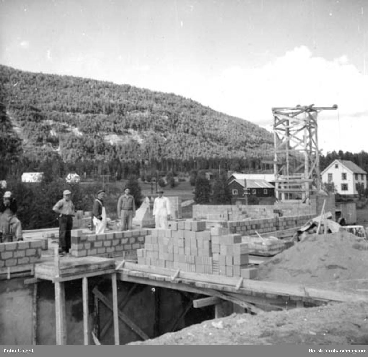 Røkland (Saltdal) stasjon under bygging