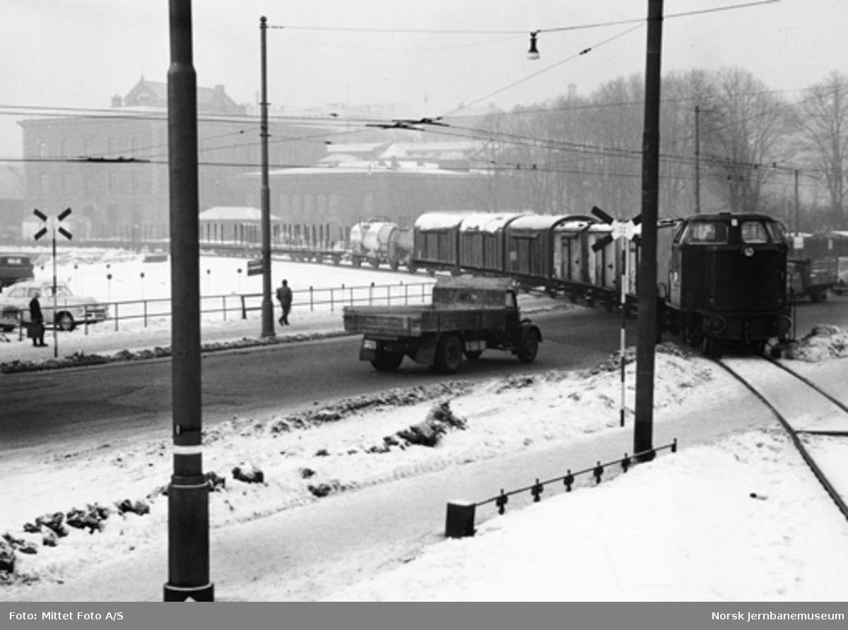 Havnebanens tog på ny trasé mellom Oslo Ø og Havnelageret