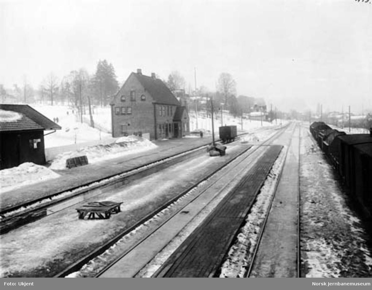 Borgestad stasjon med begge sporvidder