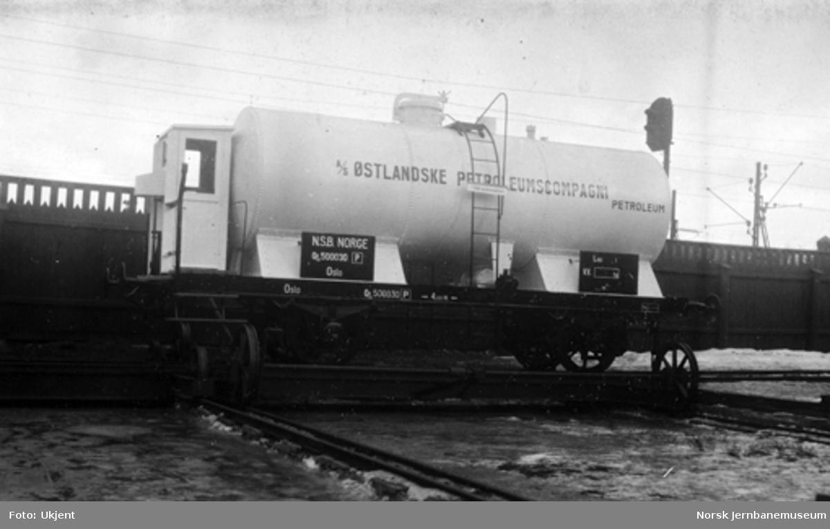 Tankvogn litra Qf3 nr. 500030 bygget til A/S Østlandske Petroleumskompagni