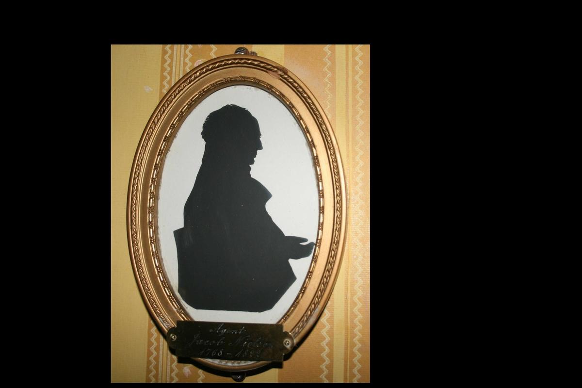 Silhuett av Jacob Nielsen. Profil mot høyre.