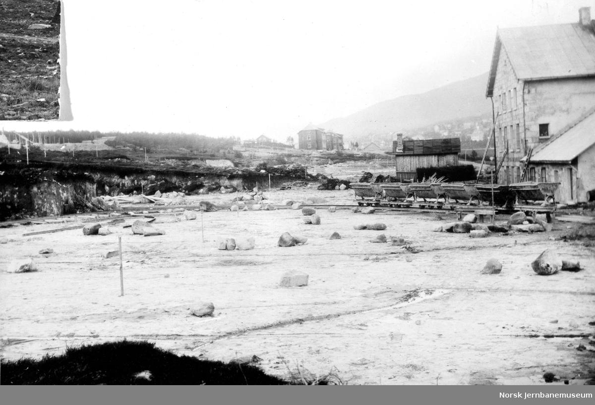 LKABs anlegg i Narvik : planering for Nedre rangerstasjon og malmopplag