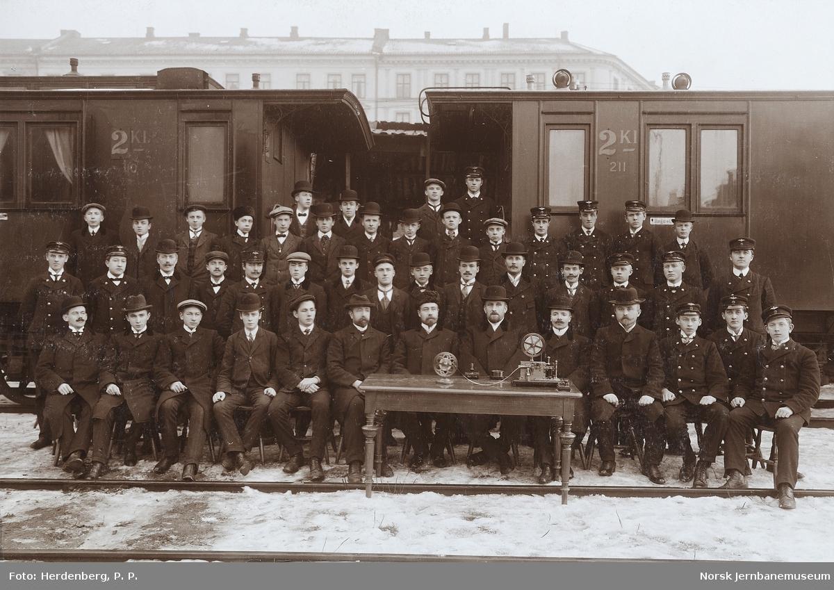 Jernbaneskolens telegrafistkurs høsten 1910